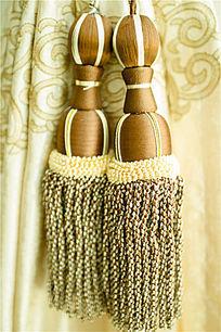 窗帘绸缎流苏扎带