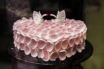 花瓣心形蛋糕