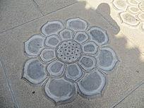 莲花雕刻石砖