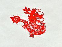龙形剪纸艺术