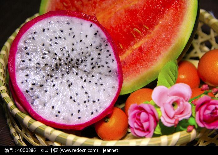 切开的水果图片