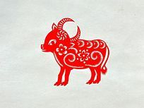 十二生肖羊剪纸