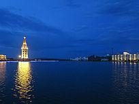 满洲里北湖之夜