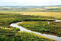 根河湿地秋色