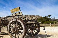 农具木头车子
