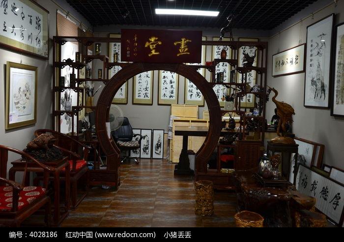 中式书堂图片