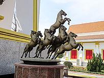 飞腾的骏马雕刻石雕