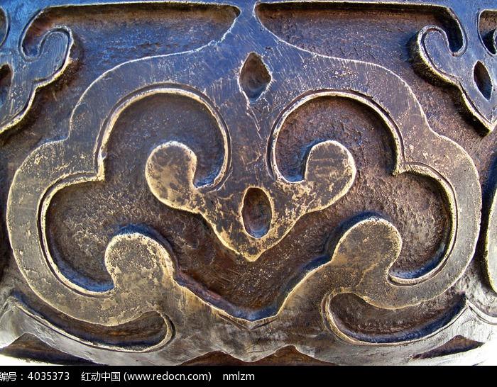 蒙古族元素金属云纹图片
