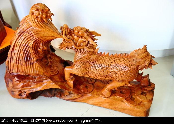 木雕麒麟图片,高清大图