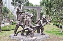 消防文化园消防员雕像