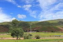 西藏蓝天白云大气山川