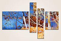 抽象风景三联画