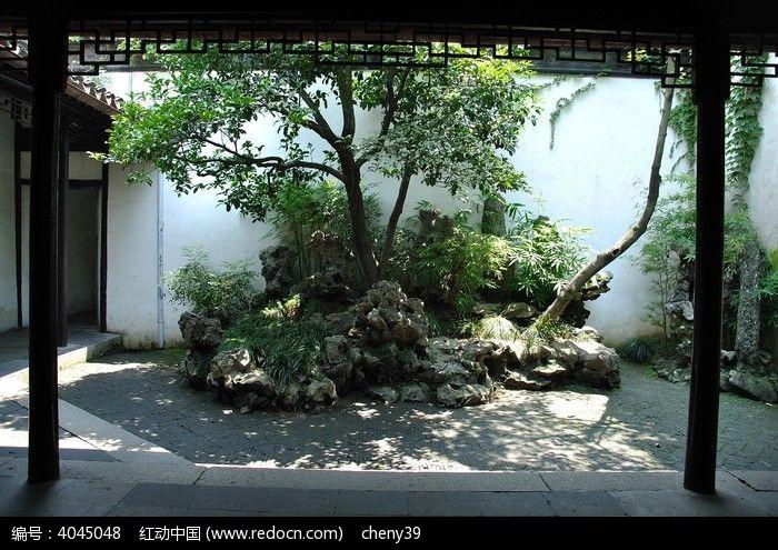 现代内庭景观设计手绘图样