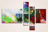 三联抽象画