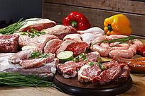 鲜肉蔬菜辣椒组合高清图
