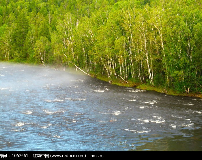 安格林河雾气图片,高清大图_森林树林素材
