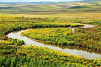 根河湿地自然保护区秋色