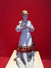 格热利陶瓷器 俄罗斯女孩