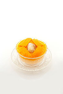 芒果西米露雪蛤糕