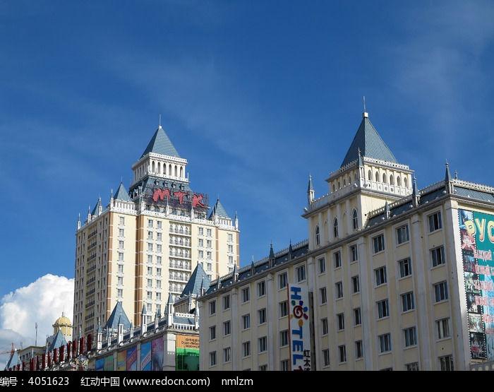 满洲里欧式建筑图片,高清大图