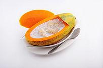 珍珠木瓜炖雪蛤