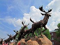 雕塑 驯鹿