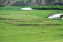 金界壕遗址的戍堡风景