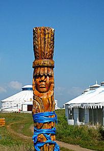 蒙古图腾柱