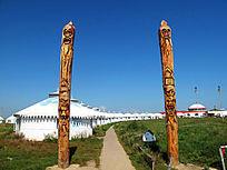 蒙古族图腾柱