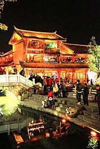 丽江古城夜色美