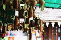 水上市场小商品木制生活用品