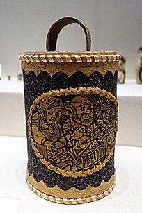 俄罗斯传统工艺品桦皮盒