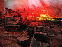 林区林场火烧后惨状
