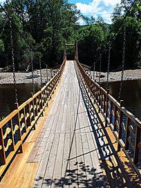 森林公园吊桥