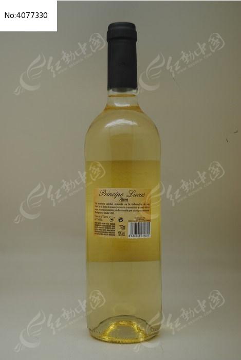 一瓶白葡萄酒图片