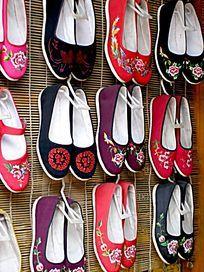 彩色的布鞋