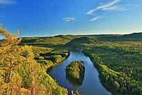 原始森林河湾