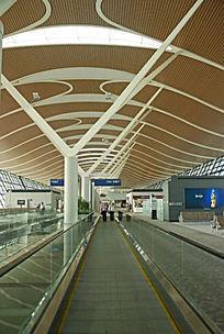 上海浦东机场候机大厅