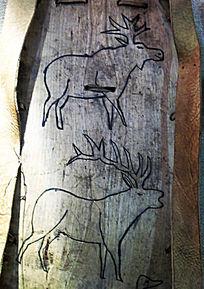使鹿鄂温克背板驯鹿图案