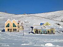 童话雪国木屋