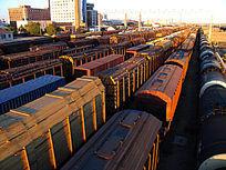 满洲里货物列车