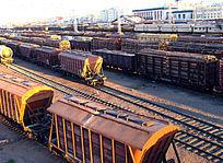 满洲里口岸 货运列车