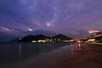 三亚市大东海宁静夜色