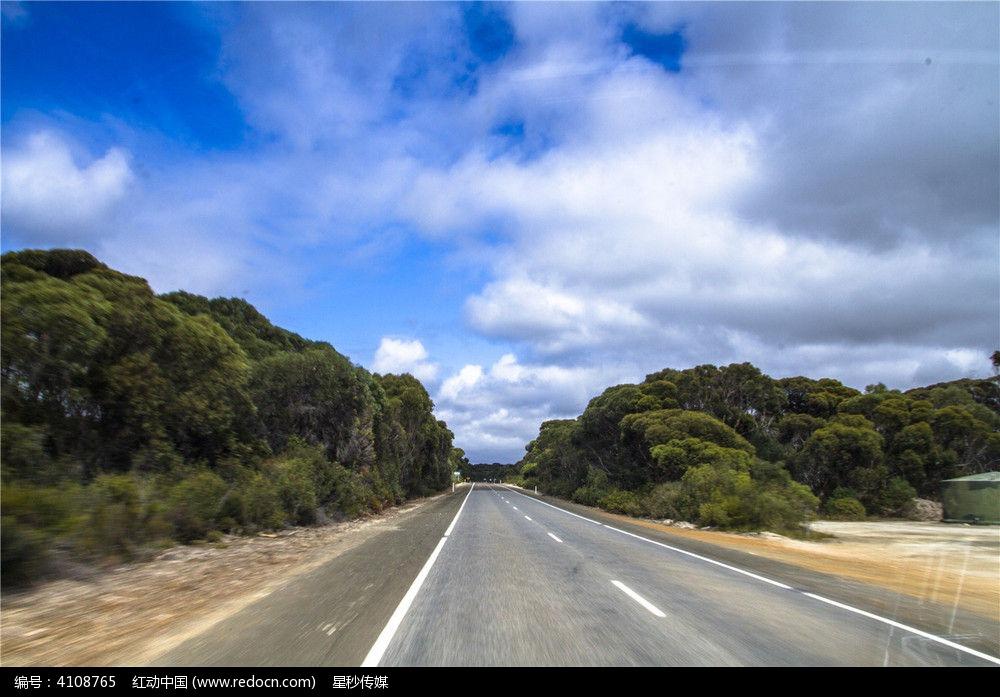 澳洲袋鼠岛自驾旅游郊外公路景色
