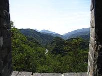 八达岭长城风景区群山