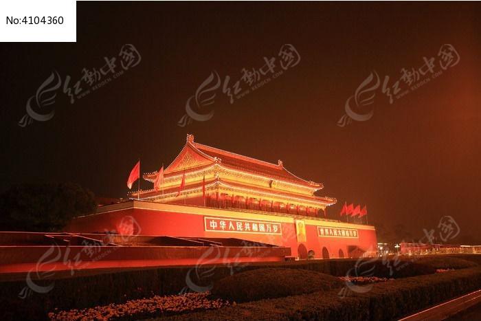 北京天安门广场夜景图片