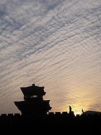 横店影视基地城墙城堡竖构图