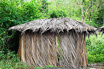 猴岛景区芭蕉叶小屋