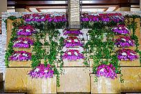 酒店室内装饰花