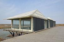 巨淀湖风景区里的玻璃建筑